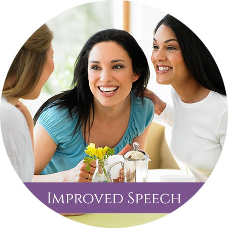 Enjoy improved speech with implant supported dentures